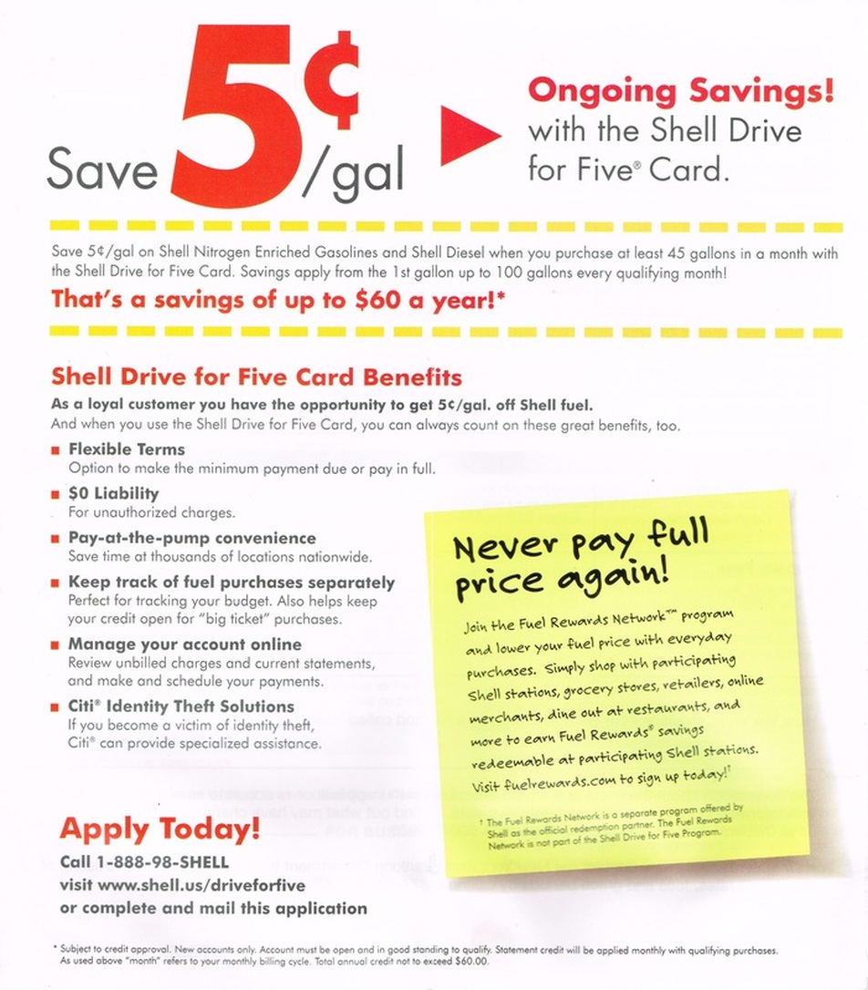 Shell Drive For Five >> Save With Shell Leadbetter S Super Stop